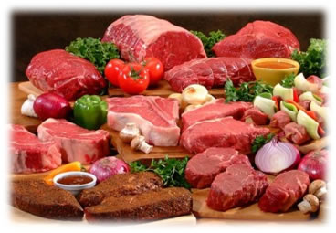 raw and cooked meat