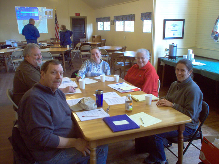 Mason County Historic Preservation Commission at their January 2012 meeting in the Grant School.