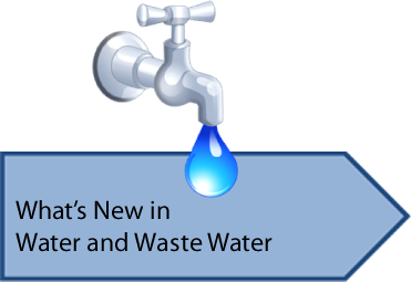 Whats new in water and waste water